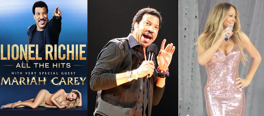 Lionel Richie with Mariah Carey at Toyota Center