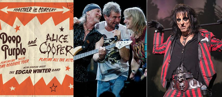 Deep Purple and Alice Cooper at Cynthia Woods Mitchell Pavilion
