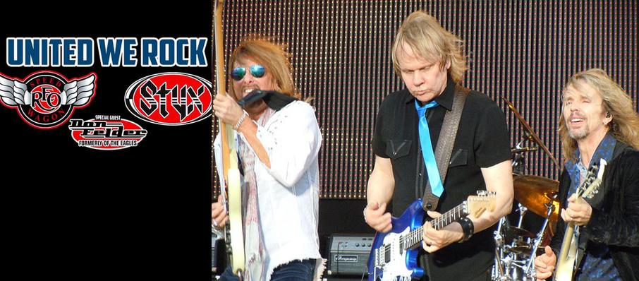 Styx with REO Speedwagon at Cynthia Woods Mitchell Pavilion