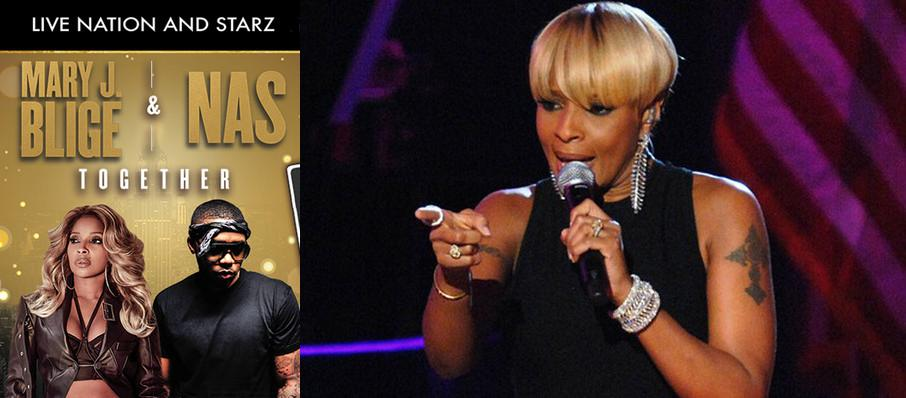 Mary J Blige and Nas at Cynthia Woods Mitchell Pavilion