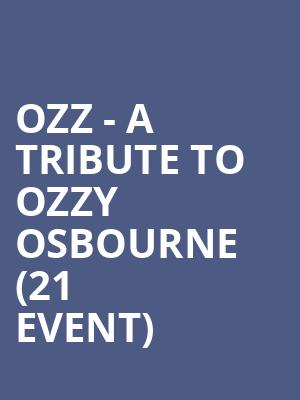 Ozz - A Tribute to Ozzy Osbourne (21+ Event) at Scout Bar