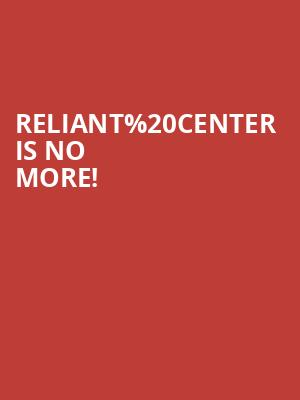Reliant Center is no more