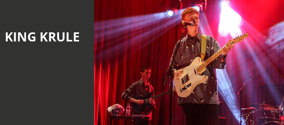 King Krule, White Oak Music Hall, Houston